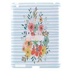 Watercolor Bouquet Floral White Apple Ipad 3/4 Hardshell Case (compatible With Smart Cover)
