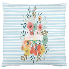 Watercolor Bouquet Floral White Large Cushion Case (two Sides) by Nexatart