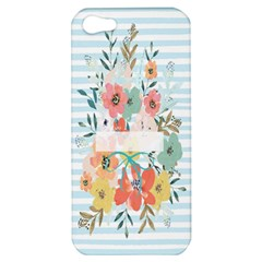 Watercolor Bouquet Floral White Apple Iphone 5 Hardshell Case