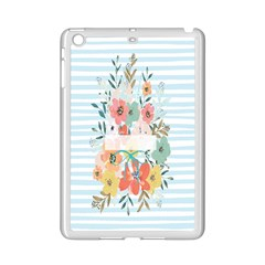 Watercolor Bouquet Floral White Ipad Mini 2 Enamel Coated Cases