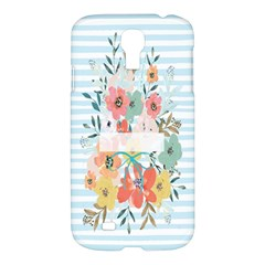 Watercolor Bouquet Floral White Samsung Galaxy S4 I9500/i9505 Hardshell Case