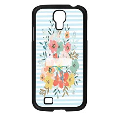 Watercolor Bouquet Floral White Samsung Galaxy S4 I9500/ I9505 Case (black)