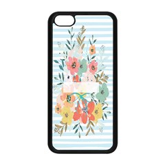 Watercolor Bouquet Floral White Apple Iphone 5c Seamless Case (black) by Nexatart