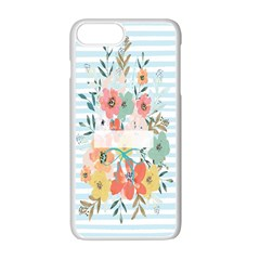 Watercolor Bouquet Floral White Apple Iphone 7 Plus White Seamless Case