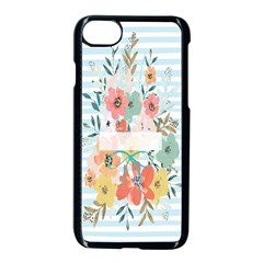 Watercolor Bouquet Floral White Apple Iphone 7 Seamless Case (black)