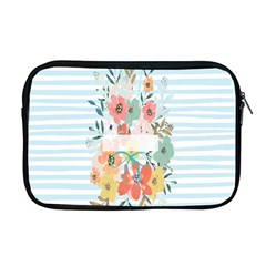 Watercolor Bouquet Floral White Apple Macbook Pro 17  Zipper Case by Nexatart