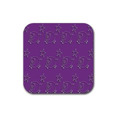 Pig Star Pattern Wallpaper Vector Rubber Coaster (square)