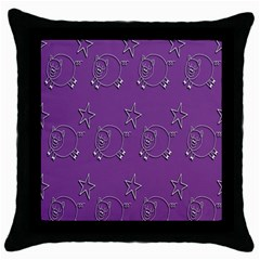 Pig Star Pattern Wallpaper Vector Throw Pillow Case (black) by Nexatart