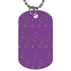 Pig Star Pattern Wallpaper Vector Dog Tag (one Side) by Nexatart