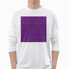 Pig Star Pattern Wallpaper Vector White Long Sleeve T Shirts