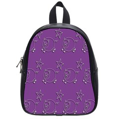 Pig Star Pattern Wallpaper Vector School Bag (small)