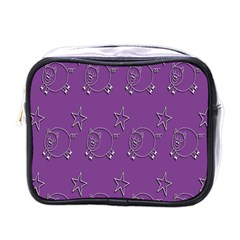 Pig Star Pattern Wallpaper Vector Mini Toiletries Bags