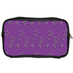 Pig Star Pattern Wallpaper Vector Toiletries Bags 2 Side