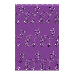Pig Star Pattern Wallpaper Vector Shower Curtain 48  X 72  (small)  by Nexatart