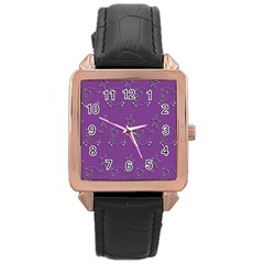 Pig Star Pattern Wallpaper Vector Rose Gold Leather Watch  by Nexatart