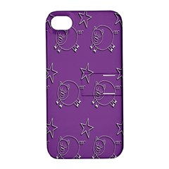 Pig Star Pattern Wallpaper Vector Apple Iphone 4/4s Hardshell Case With Stand