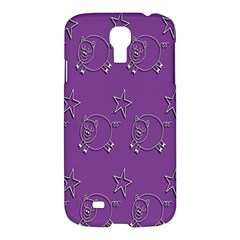 Pig Star Pattern Wallpaper Vector Samsung Galaxy S4 I9500/i9505 Hardshell Case by Nexatart