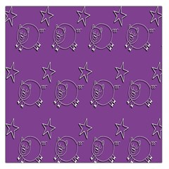 Pig Star Pattern Wallpaper Vector Large Satin Scarf (square) by Nexatart