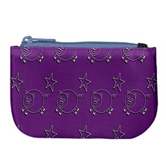 Pig Star Pattern Wallpaper Vector Large Coin Purse