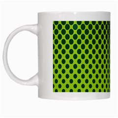 Halftone Circle Background Dot White Mugs by Nexatart