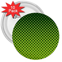 Halftone Circle Background Dot 3  Buttons (10 Pack)
