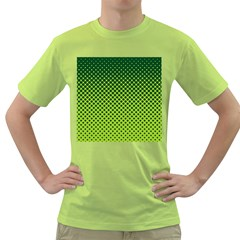 Halftone Circle Background Dot Green T Shirt