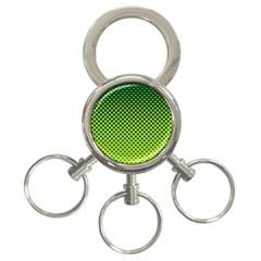 Halftone Circle Background Dot 3 Ring Key Chains