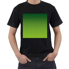 Halftone Circle Background Dot Men s T Shirt (black) (two Sided)
