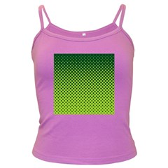 Halftone Circle Background Dot Dark Spaghetti Tank