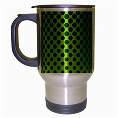 Halftone Circle Background Dot Travel Mug (silver Gray) by Nexatart