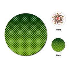 Halftone Circle Background Dot Playing Cards (round)