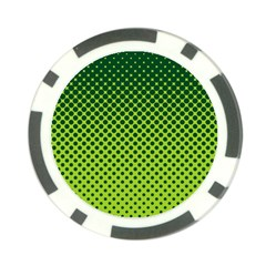 Halftone Circle Background Dot Poker Chip Card Guard
