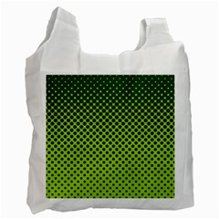 Halftone Circle Background Dot Recycle Bag (two Side)
