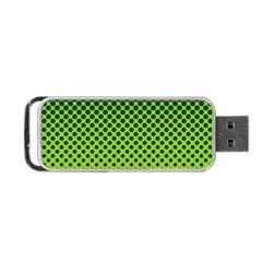 Halftone Circle Background Dot Portable Usb Flash (two Sides) by Nexatart