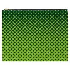 Halftone Circle Background Dot Cosmetic Bag (xxxl)  by Nexatart