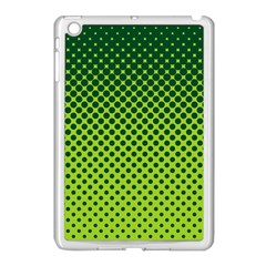Halftone Circle Background Dot Apple Ipad Mini Case (white)