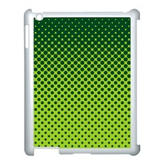 Halftone Circle Background Dot Apple Ipad 3/4 Case (white) by Nexatart