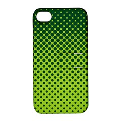 Halftone Circle Background Dot Apple Iphone 4/4s Hardshell Case With Stand by Nexatart