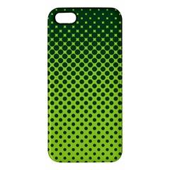 Halftone Circle Background Dot Apple Iphone 5 Premium Hardshell Case by Nexatart