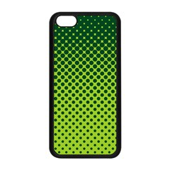 Halftone Circle Background Dot Apple Iphone 5c Seamless Case (black) by Nexatart