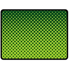 Halftone Circle Background Dot Double Sided Fleece Blanket (large)  by Nexatart