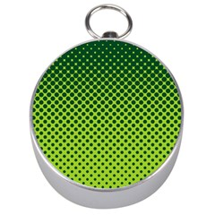 Halftone Circle Background Dot Silver Compasses