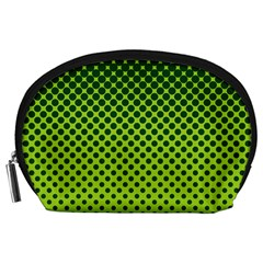 Halftone Circle Background Dot Accessory Pouches (large)