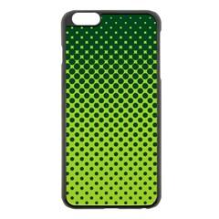 Halftone Circle Background Dot Apple Iphone 6 Plus/6s Plus Black Enamel Case by Nexatart