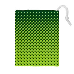 Halftone Circle Background Dot Drawstring Pouches (extra Large)