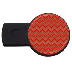 Background Retro Red Zigzag Usb Flash Drive Round (2 Gb) by Nexatart