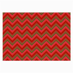 Background Retro Red Zigzag Large Glasses Cloth by Nexatart