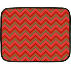 Background Retro Red Zigzag Fleece Blanket (mini) by Nexatart