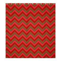 Background Retro Red Zigzag Shower Curtain 66  X 72  (large)  by Nexatart