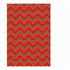 Background Retro Red Zigzag Small Garden Flag (two Sides)